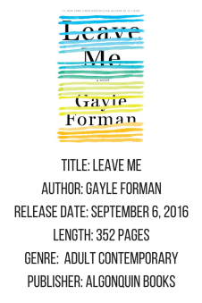 Leave Me Gayle Forman